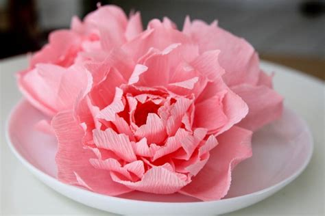 Wedding Flower Paper Centerpiece by 3 Pink Peonies Paper Peonies Paper Flowers Wedding