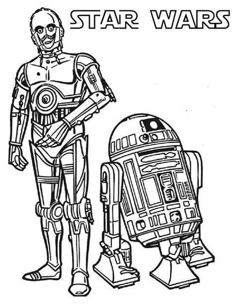 c3po and r2d2 the star wars droids coloring page batch