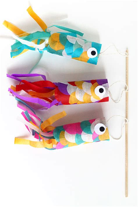 japanese fish kite template diy mini koinobori japanese flying carp diy squirrelly