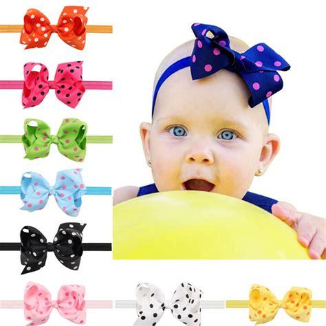 1pc big bows infant baby flower headband hair elastic headbands bows hair band