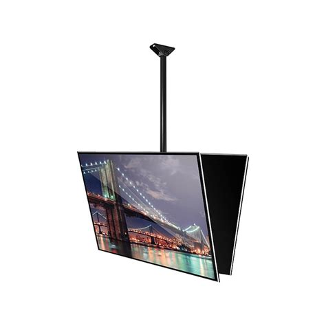 b tech flat screen ceiling mount with tilt 2m pole chrome