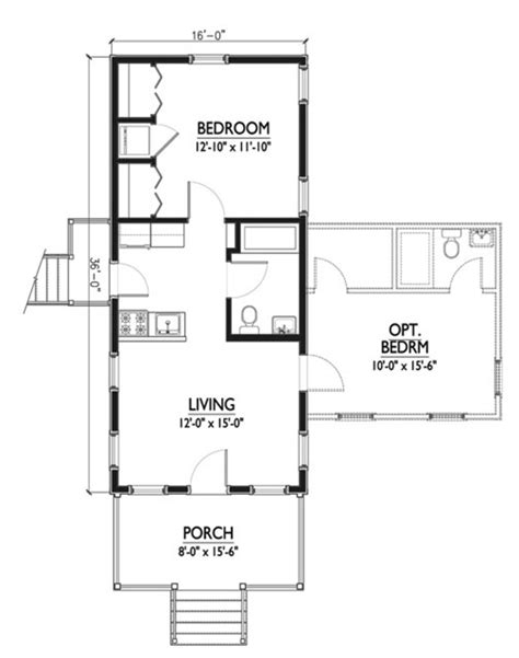 Floor Plan Of 4 Bedroom House by Cottage Style House Plan 1 Beds 1 Baths 576 Sq Ft Plan