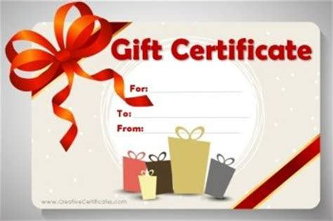 e gift card template birthday gift certificate template crafts