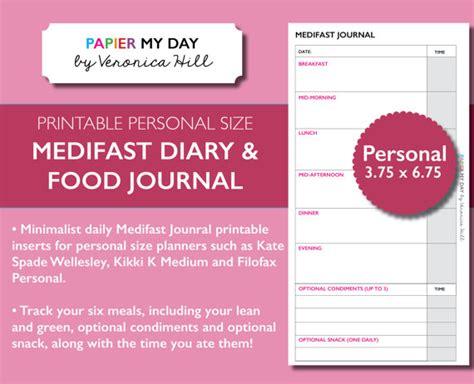 Printable Medifast Food Journal   medifast journal pdf medifast food diary printable food