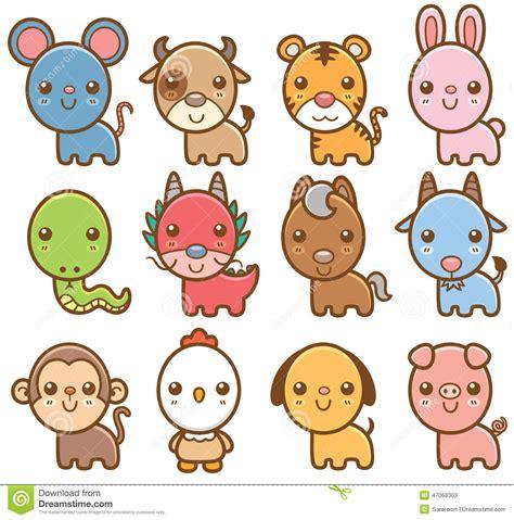 clipart new year rabbit zodiac animals stock vector illustration of