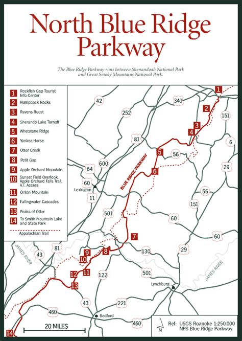 blue ridge parkway virginia map sherpa guides virginia mountains blue ridge