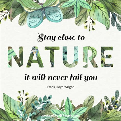 leaf pattern quotes watercolor leaves inspirational quote about nature vector