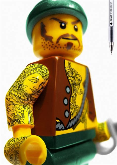 tattoo advertising lego pilot pen ads