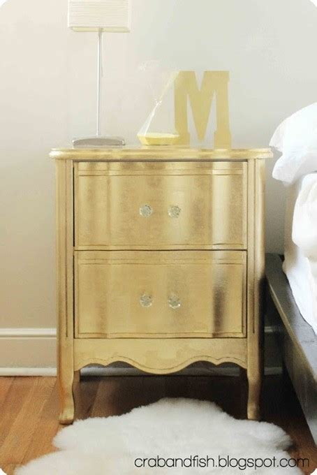 West Elm Owned By Pottery Barn Gold Leaf Nightstand