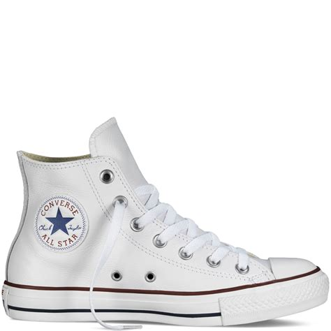 Convers Chuk chuck all leather white white