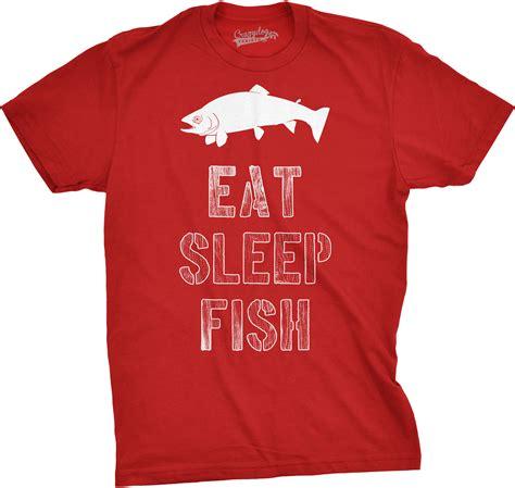 T Shirt Eat Sleep Fish Fth mens eat sleep fish t shirt vintage fishing outdoors