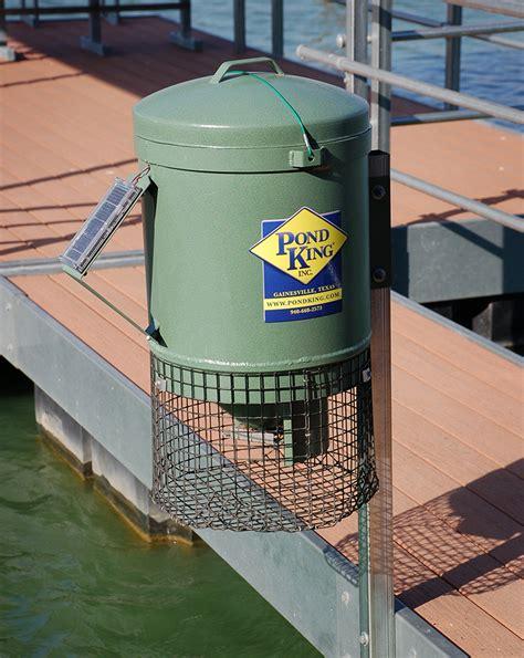 Pond Fish Feeder pk mounted fish feeder pond king