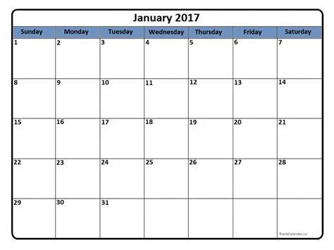 printable january 2017 calendar january 2017 calendar january 2017 calendar printable
