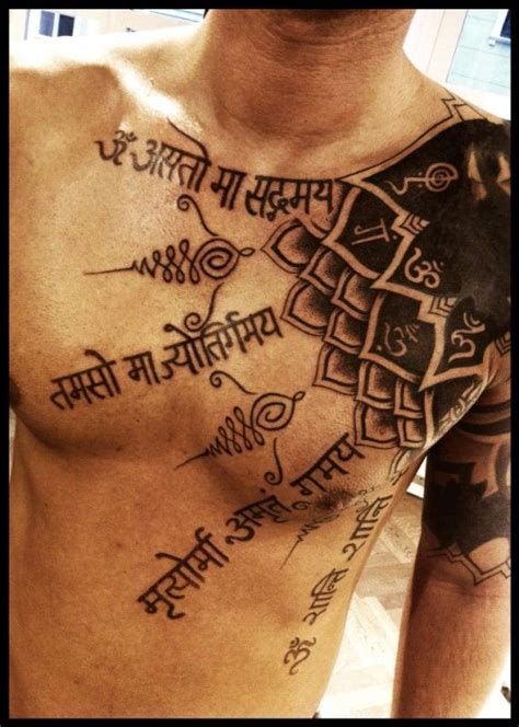 yoga tattoos for men sanskrit expression through henna