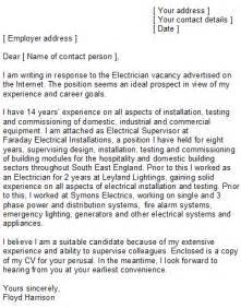 Electrician Cover Letter Exles by Electrician Cover Letter Sle