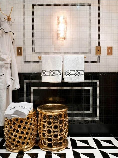 gold bathroom ideas black white gold bathrooms pinterest black white