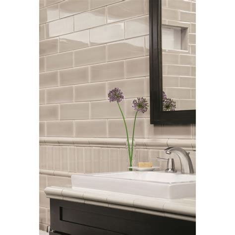 bathroom tiles canada shop allen roth 8 pack pearl ceramic wall tiles common