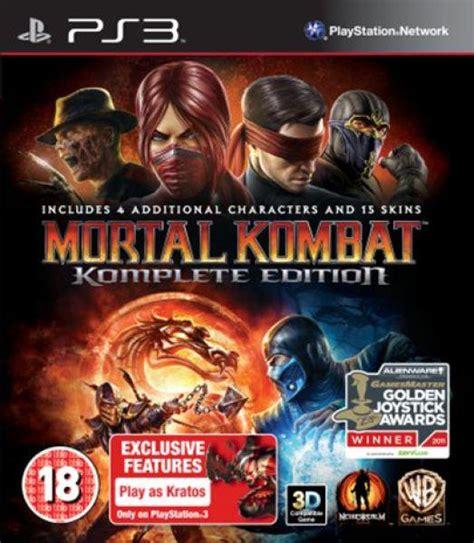 Mortal Kombat Komplete Edition Ps3 mortal kombat komplete edition box