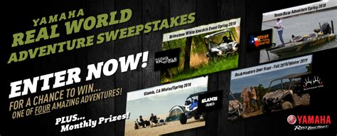 Outdoor Adventures Giveaway 2017 - win a vacation on yamaha real world adventure sweepstakes contestbank