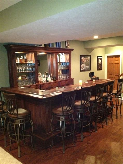 crafted black walnut home bar by belanger