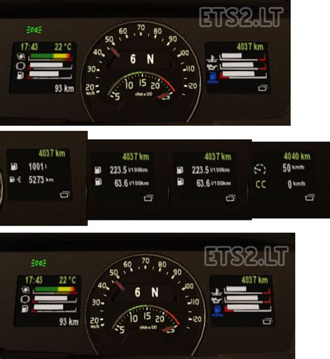 volvo truck dashboard trial volvo fh16 dashboard for 1 19 ets 2 mods