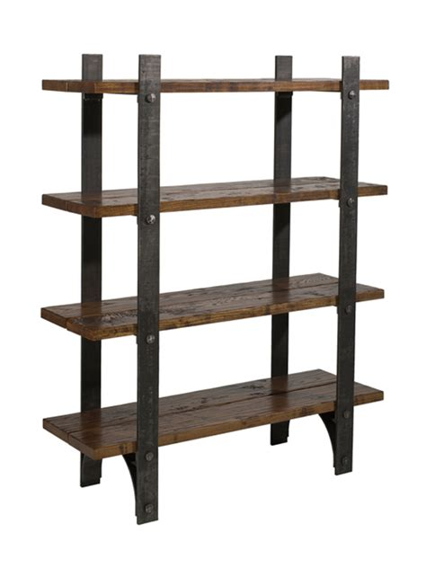 metal and wood bookcase wood and metal bookcase a book storage for ultra rustic