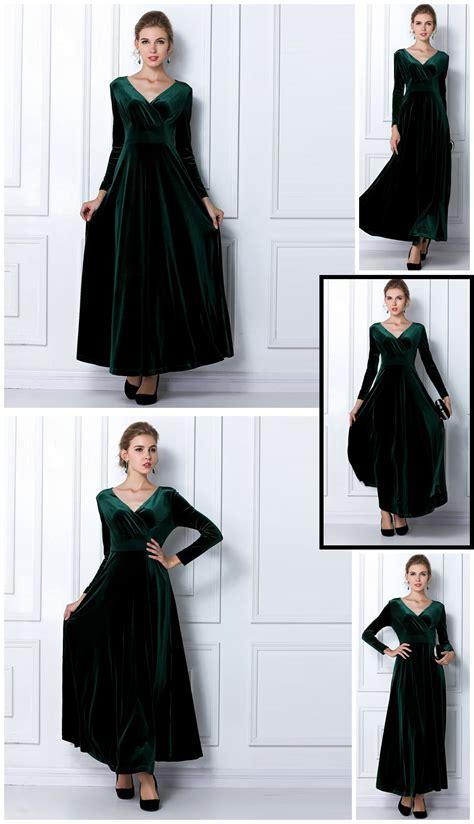 Celana Pop Velvet Junior Size S M L new velvet warm plus size winter ankle length dress blue wine green black slim vintage