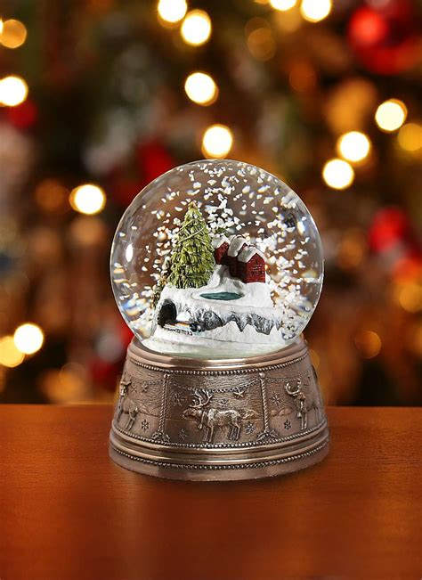 traditional christmas snowglobes genesis town snow globe blarney