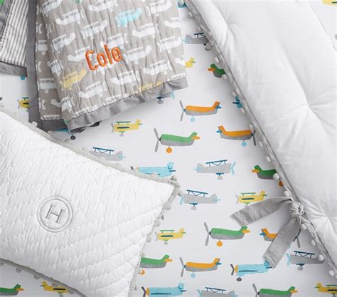 Asher Airplane Baby Bedding Pottery Barn Kids Pottery Barn Airplane Crib Bedding