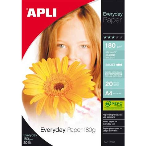 Dataprint Glossy Photo Paper 180gr apli etiquetas 20 hojas papel fotogr 225 fico everyday