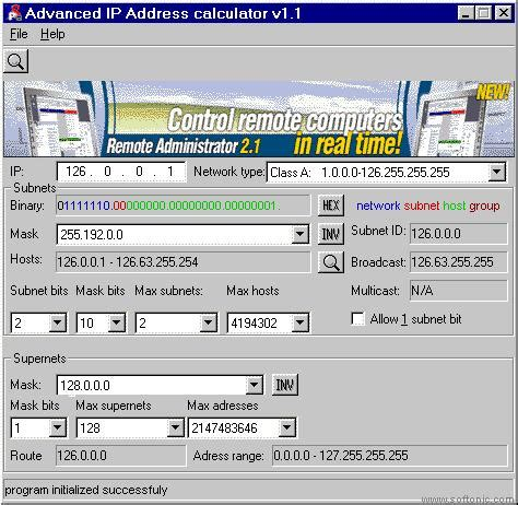 calculator ip advanced ip address calculator download