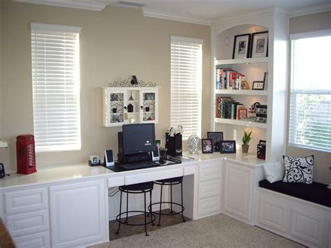 Chino Hills Ca. Custom, home office desk finished in white