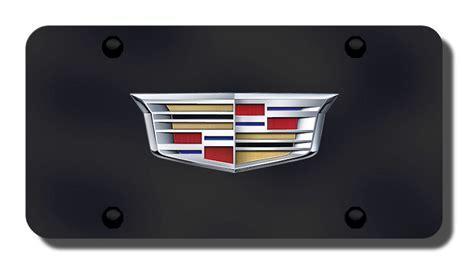 Cadillac Vanity Plates by Cadillac Newest Logo On Black License Plate Cadillac
