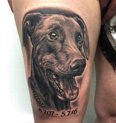 tattoo fixers dog portrait dog portrait by bob tyrrell tattoonow