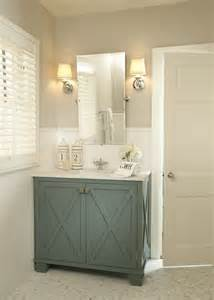 Traditional Powder Room With Vintage Rectangular Pivot