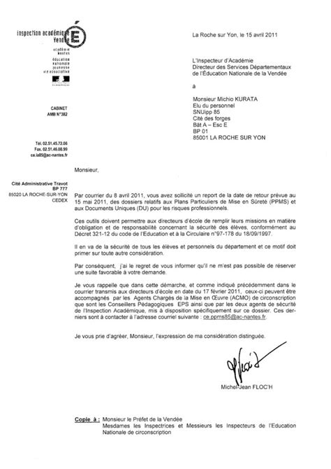 Exemple Modele Courrier