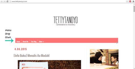 cara membuat menu dropdown tanpa edit html blogging cara membuat menu drop down tanpa edit html