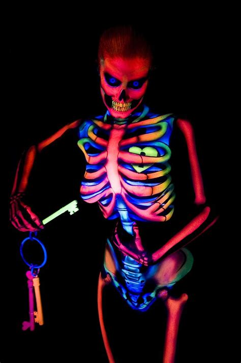 black light and glow in the paint neon by nix herrera skeletons in the closet