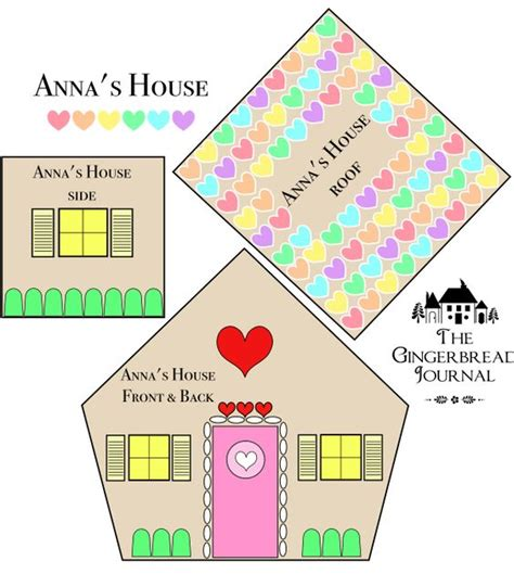 house pattern free anna s house free downloadable gingerbread house pattern