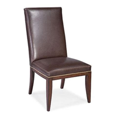 Thomasville Leather Dining Room Chairs Thomasville Wanderlust Side Chair Leather Upholstered