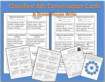 housing classified ads conversation cards dream house