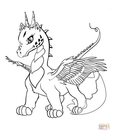 Baby Dragon Coloring Page Free Printable Coloring Pages Baby Dragon Coloring Page In Coloring Free Printable Pictures