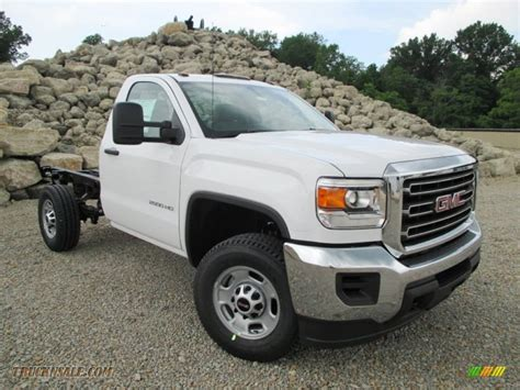2015 gmc 2500hd cab 2015 gmc 2500hd regular cab chassis in summit white