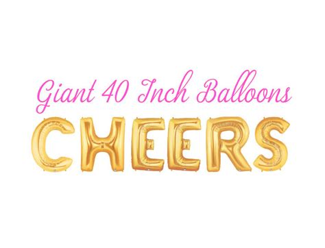 Closing Letter With Cheers Cheers Cheers Balloons Letter Balloons Happy Birthday
