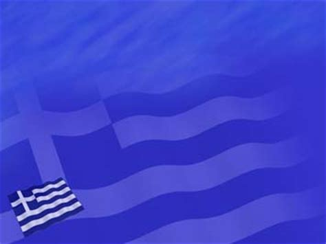 greece flag 01 powerpoint templates