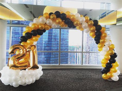 21st Decorations by Premium Balloon Arch Decorations In Singapore The
