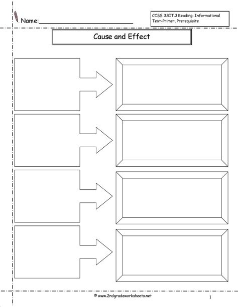 Free Cause And Effect Worksheets