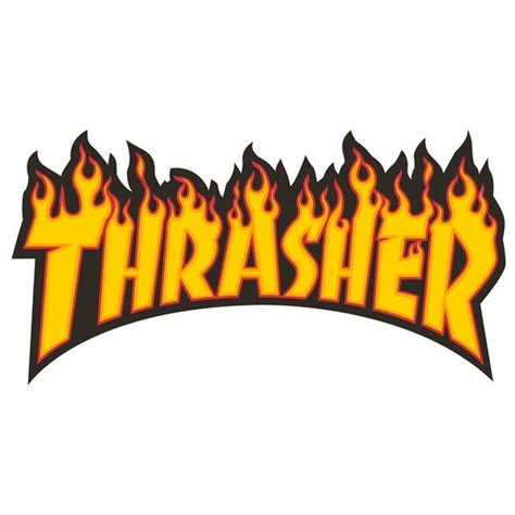 thrasher magazine flame logo large assorted colors skate