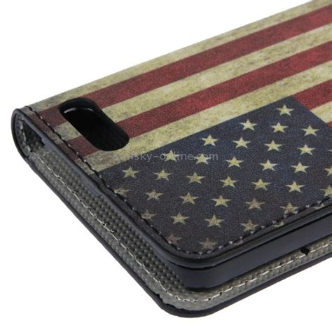Ranyd Wallet sunsky retro us flag pattern leather with holder card slots wallet for phone