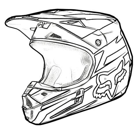 easy dirt bike coloring pages dirt bike helmet coloring page sketch coloring page